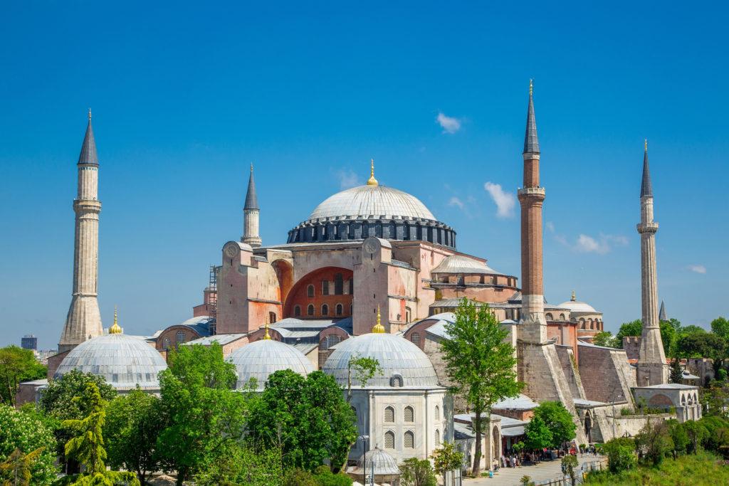 De Aya Sofia in Istanbul, Turkije