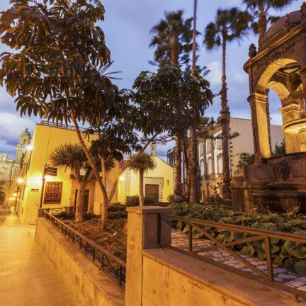 Fontein in de oude stad van Las Palmas, Gran Canaria