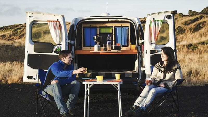 Camper van Go campers in IJsland