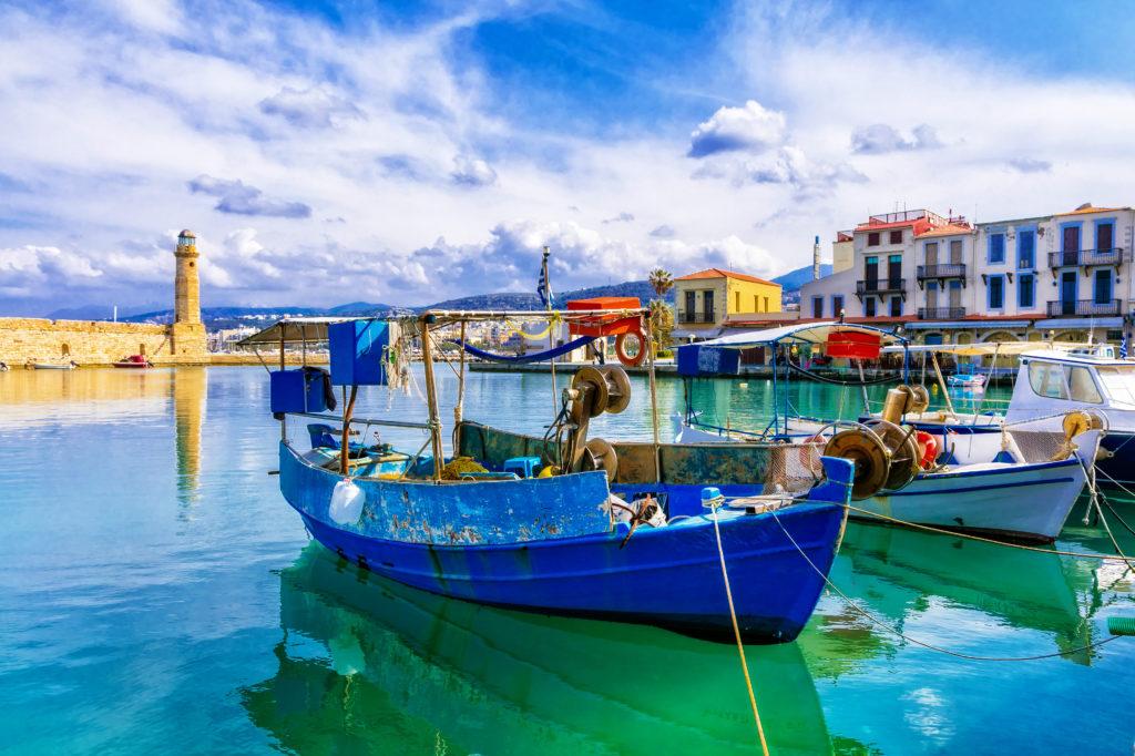 Haven van Rethymnon op Kreta, Griekenland