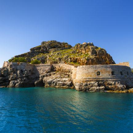 Het fort op het eiland Spinalonga op Kreta, Griekenland