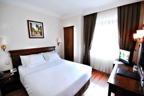 Hotelkamer van hotel Golden Crown in Istanbul, Turkije