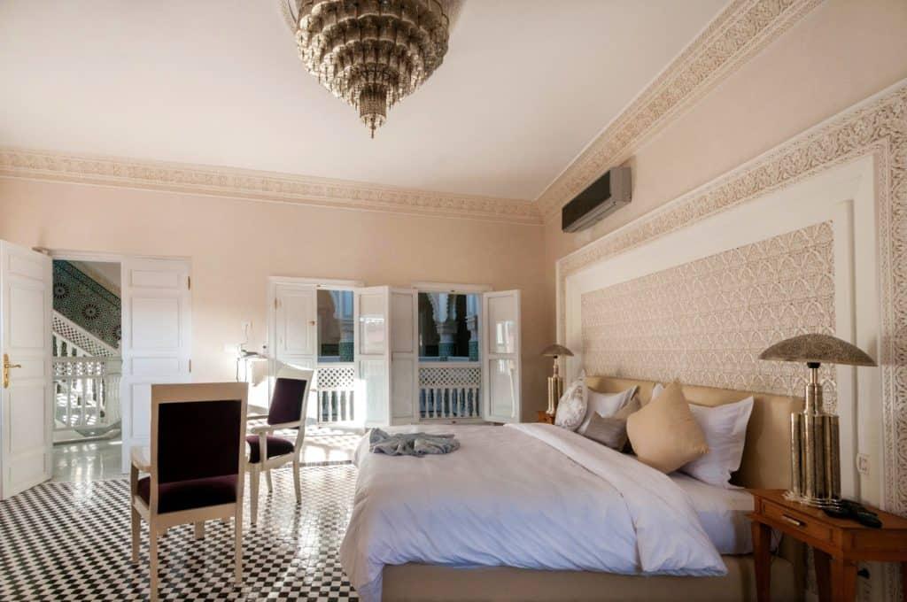 Hotelkamer van Riad Dar Grawa in Marrakech, Marokko