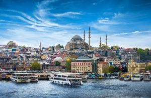 uitzicht over Sultanahmet in Istanbul, Turkije