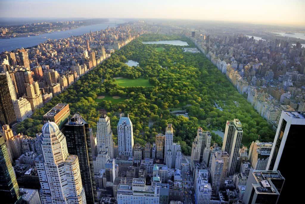 Uitzicht over het Central Park in New York, Verenigde Staten