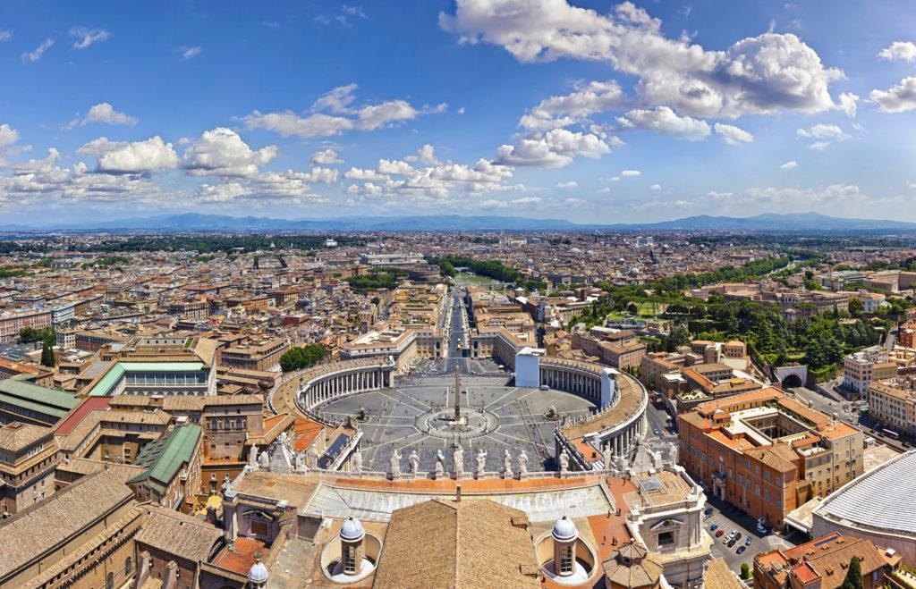 uitzicht vaticaanstad rome italie