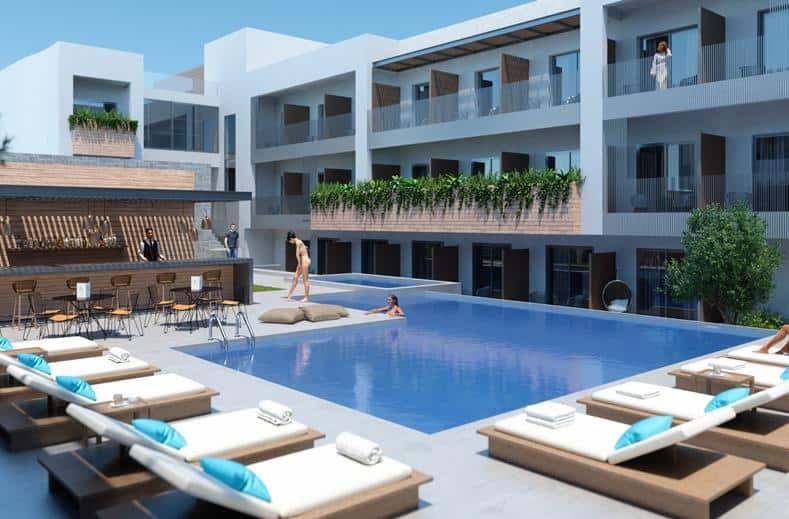 Zwembad van Ikones Suites in Rethymnon, Kreta