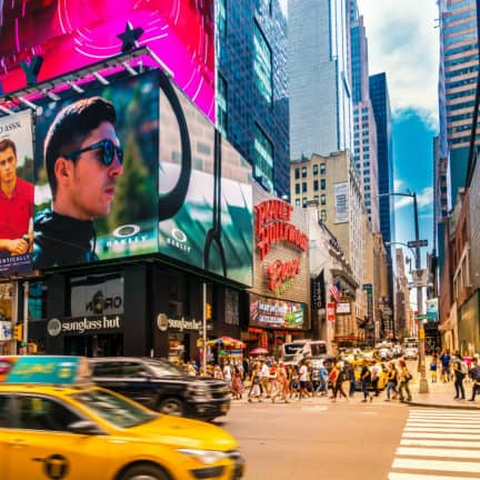 Broadway op Times Square in New York, Verenigde Staten