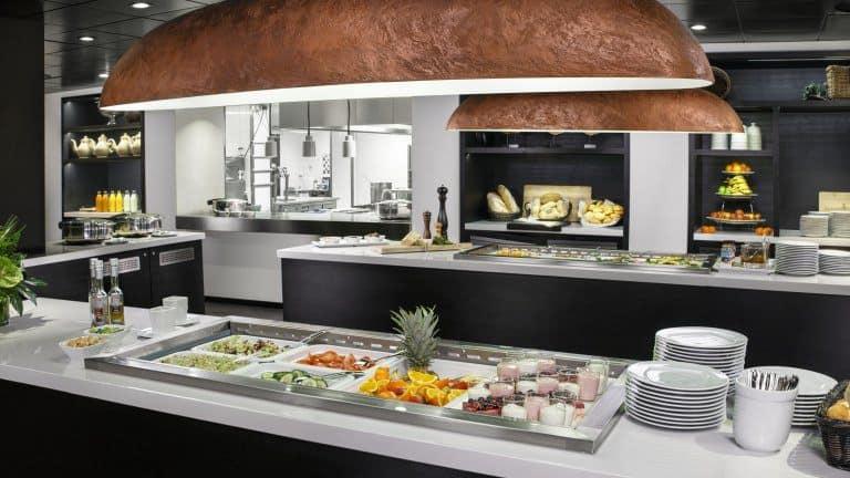 Buffet van Postillion Hotel Dordrecht in Dordrecht, Zuid-Holland