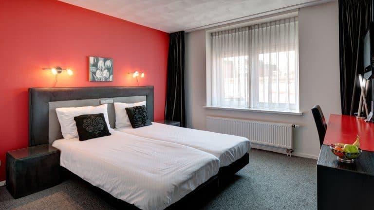 Hotelkamer van Hotel Restaurant De Boegschroef in Delfzijl, Groningen