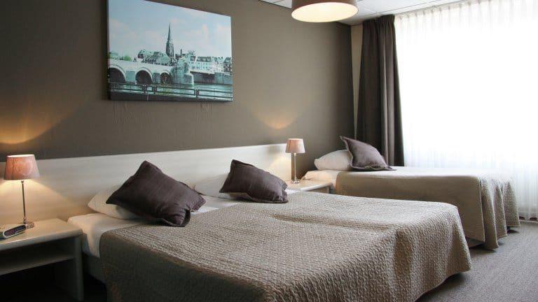 Hotelkamer van Hotel Restaurant Op De Beek in Schin op Geul, Limburg