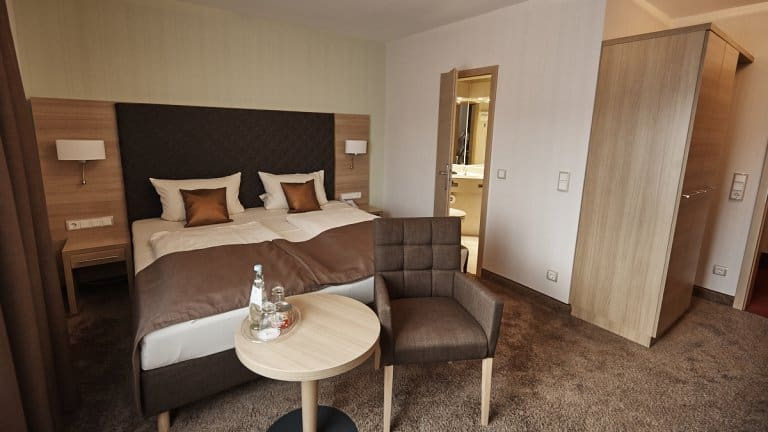 Hotelkamer van Ringhotel Central Rüdesheim am Rhein in Rüdesheim am Rhein, Duitsland