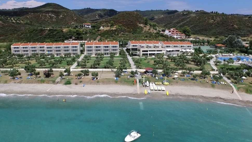 Ligging van Xenios Anastasia Resort & Spa in Néa Skióni, Chalkidiki