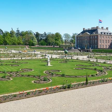 Nederlandse barokke tuin van het Paleis het Loo in Apeldoorn