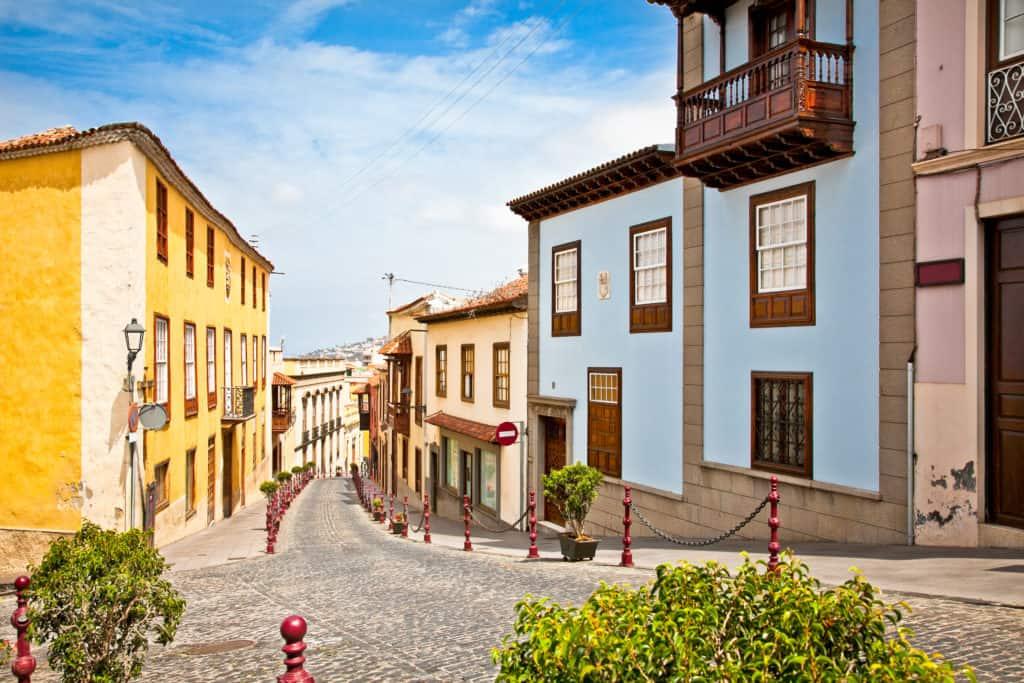 Straat in de stad La Orotava op Tenerife