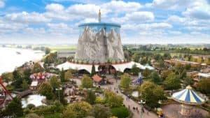 Uitzicht op Hotel en attractiepark Wunderland Kalkar in Kalkar, Duitsland