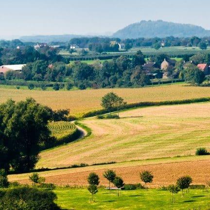 Uitzicht op het Limburgse heuvellandschap
