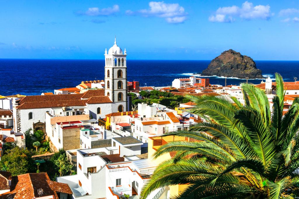 Uitzicht op de stad Garachico op Tenerife