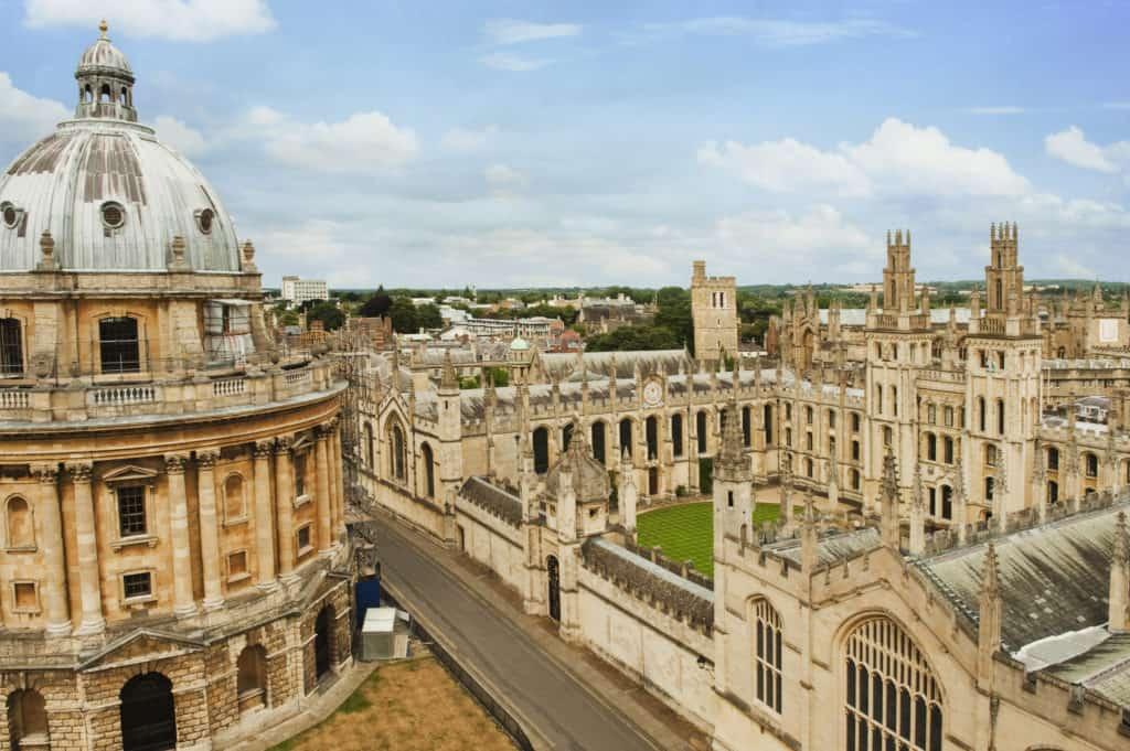 Universiteitsgebouwen in Oxford, Engeland
