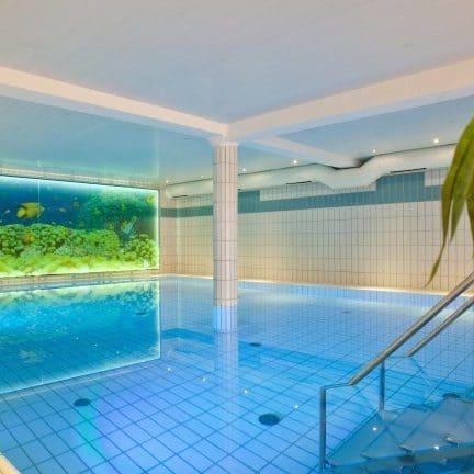 Zwembad van Familiehotel Hesborner Kuckuck in Hallenberg, Duitsland