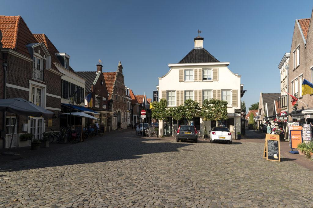 Centrum van Ootmarsum in Overijssel, Nederland
