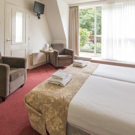 Hotelkamer van De Wapser Herberg in Wapse, Drenthe, Nederland