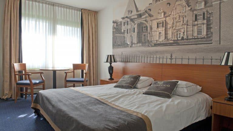 Hotelkamer van Hotel het Wapen van Delden in Delden, Overijssel, Nederland