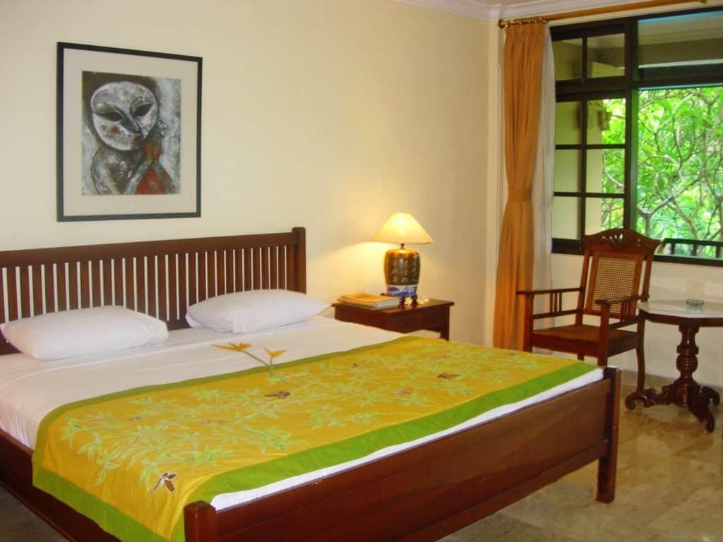 Hotelkamer van Puri Bambu Hotel in Jimbaran, Bali, Indonesië