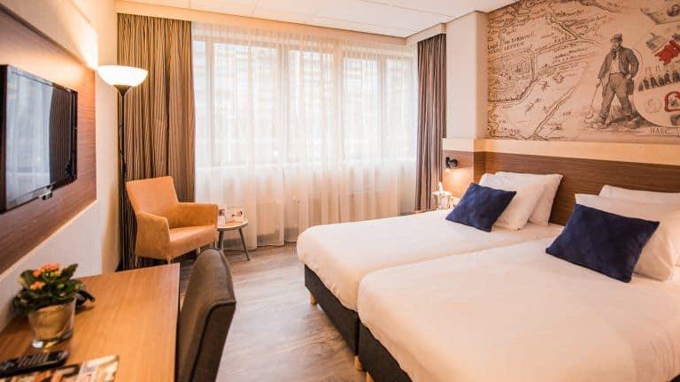 Hotelkamer van Tulip Inn Leiden Centre in Leiden, Zuid-Holland