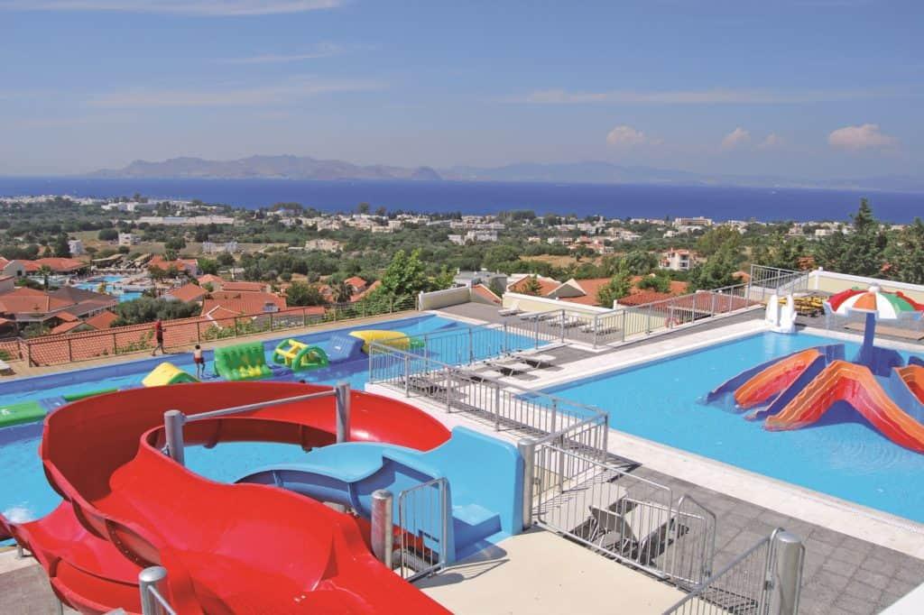 Ligging van Aegean View Aqua Resort in Kos-Stad, Kos, Griekenland