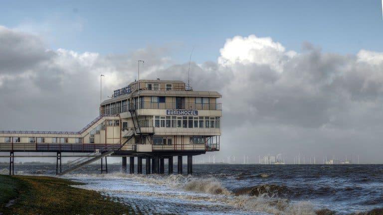 Ligging van Eemshotel in Delfzijl, Groningen, Nederland