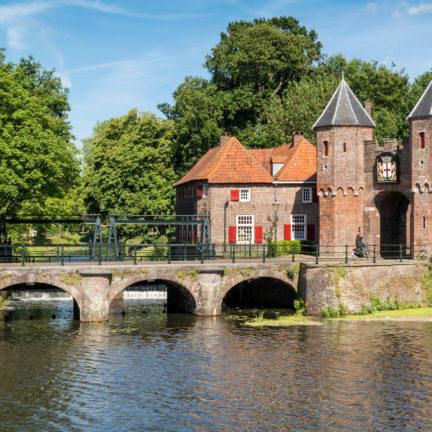 Oude stadspoort van Amersfoort in Utrecht, Nederland