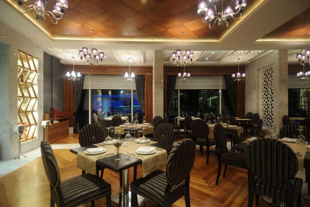 Restaurant van Gold Island Hotel in Alanya, Turkse Rivièra, Turkije