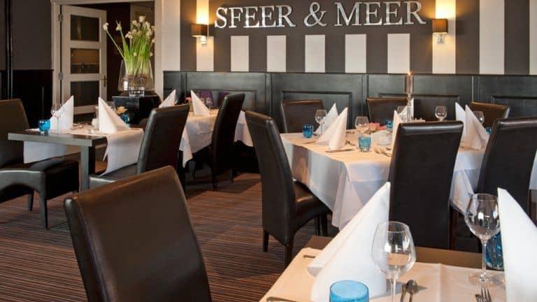 Restaurant van Hotel het Wapen van Delden in Delden, Overijssel, Nederland
