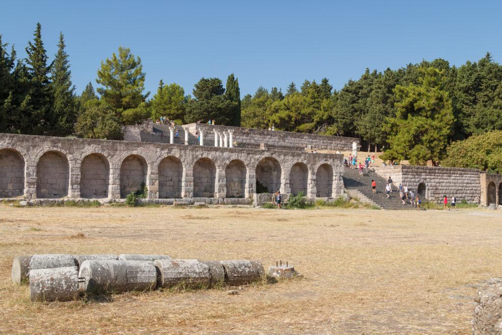 Ruïnes van het oude Asklepieion op Kos, Griekenland