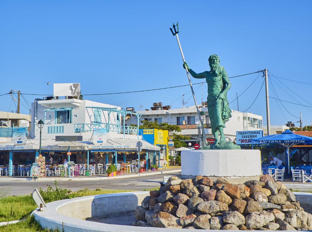 Standbeeld van Neptunus in Mastichari op Kos, Griekenland