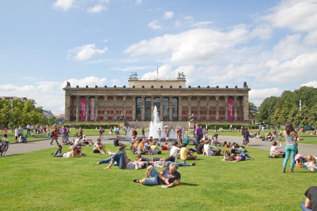 Uitzicht op het Altes Museum in Berlijn, Duitsland