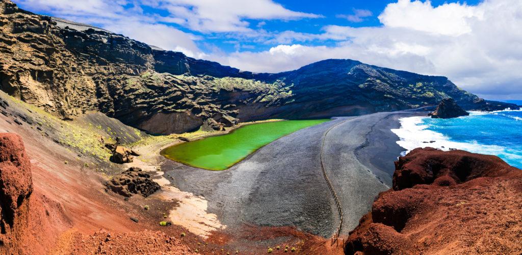 Uitzicht op Lago Verde op Lanzarote