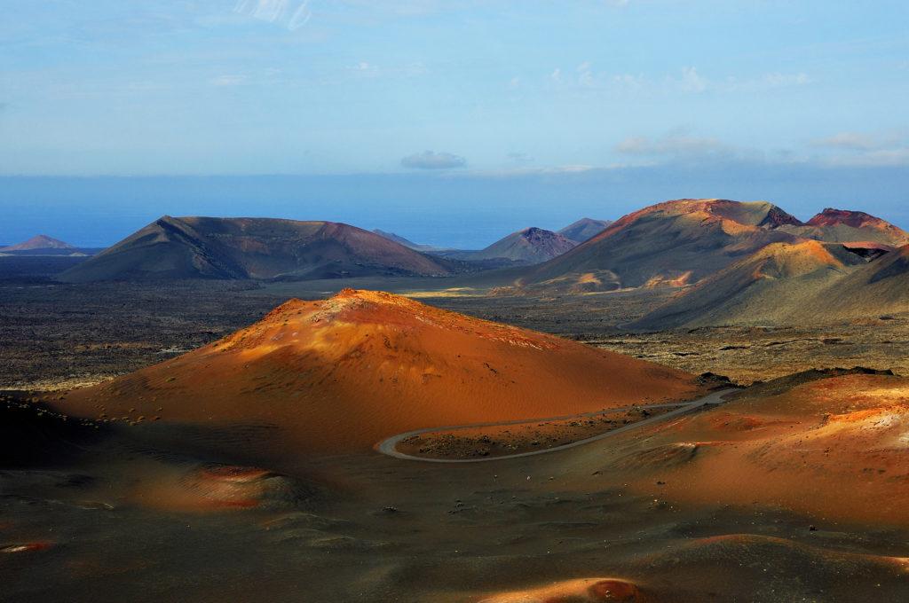 Uitzicht over Nationaal Park Timanfaya op Lanzarote