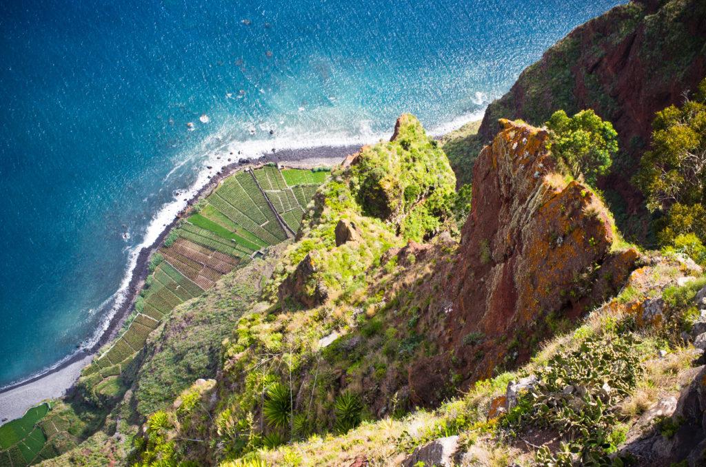 Uitzicht vanaf Cabo Girão op Madeira, Portugal