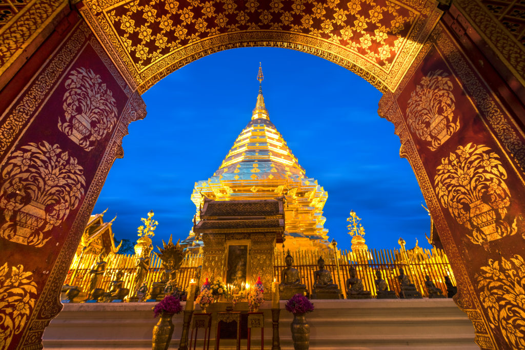 Wat Phra That Doi Suthep tempel in Chiang Mai, Thailand