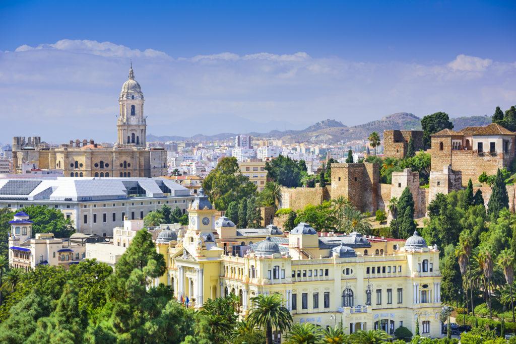 Malaga aan de Costa del Sol in Spanje