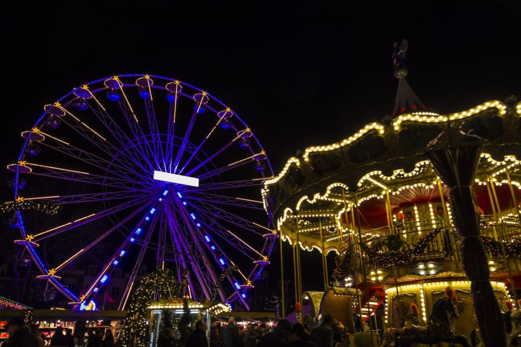 Reuzenrad op de kerstmarkt van Maastricht