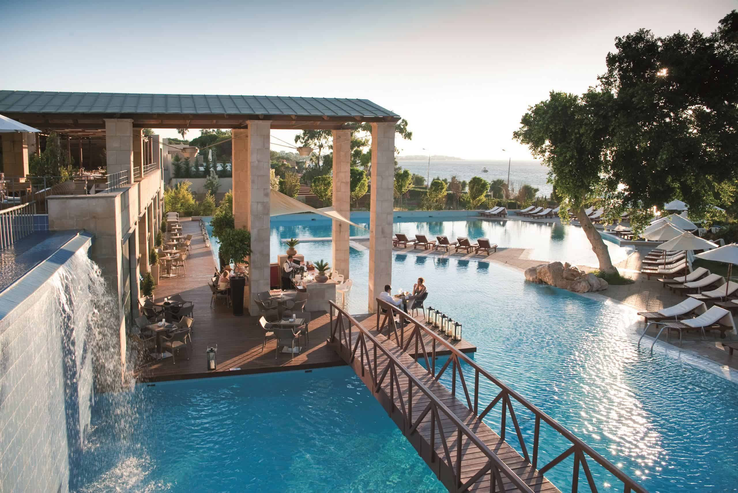 Amathus Beach Hotel in Ixiá, Rhodos, Griekenland