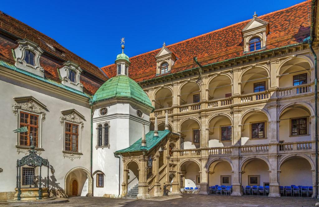 Binnenplaats van het Landhaus in Graz, Oostenrijk