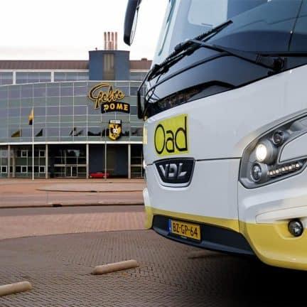 Bus bij Gelredome in Arnhem, Gelderland