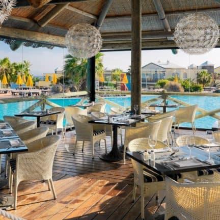 Diner van H10 Rubicon Palace in Playa Blanca, Lanzarote, Spanje