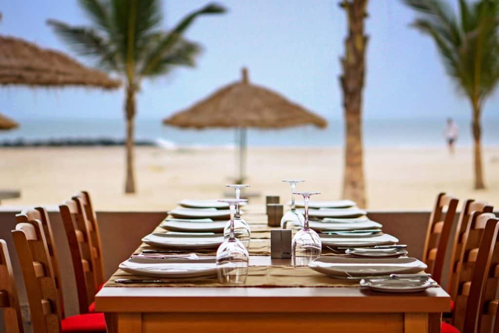 Diner van Sun Beach in Bakau, Western, Gambia