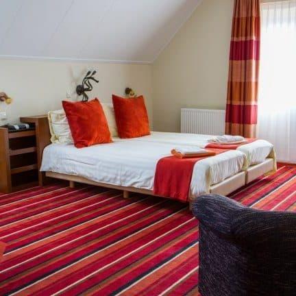 Hotelkamer van Hotel en Restaurant het Roode Hert in Dalfsen, Overijssel, Nederland