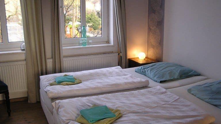 Hotelkamer van Hotel Villa OpdenSteinen in Goslar, Nedersaksen, Duitsland